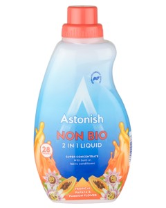 Astonish NON  BIO 2 W 1 PRALNIA LIQUID TROPICAL PAPAYA & PASSION FLOWER (840ML)