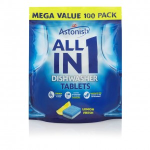 ASTONISH ALL IN 1 DISHWASHER TAB TABLETKI DO ZMYWARKI 100'S